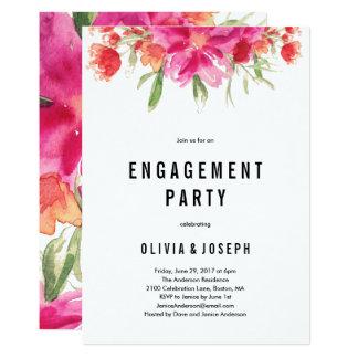 Convite brilhante da festa de noivado do verão