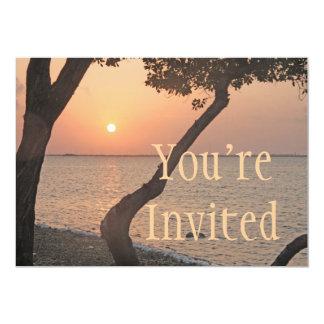Convite chave do nascer do sol de Florida