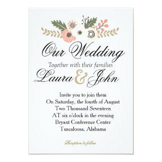 Convite chique clássico do casamento
