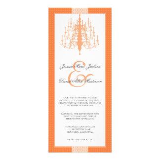 Convite chique moderno do casamento do candelabro