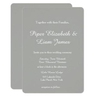 Convite cinzento do casamento