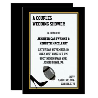 Convite cinzento & preto do chá de casamento do