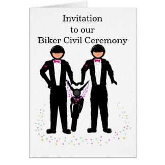 Convite civil RSVP da cerimónia do motociclista Cartão Comemorativo