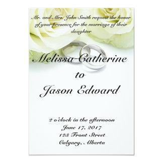Convite clássico bonito do casamento