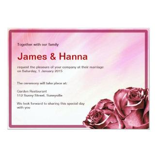 Convite clássico do casamento