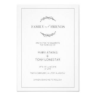 Convite clássico do casamento da folha do louro