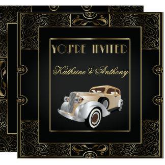 Convite clássico do casamento do estilo de Gatsby