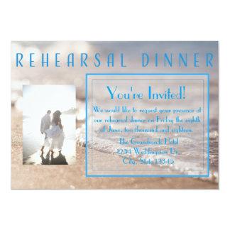 Convite clássico do casamento do jantar de ensaio