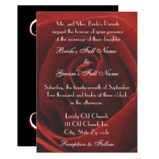 Convite clássico elegante do casamento da rosa