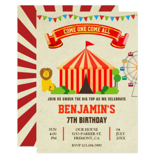 Convite colorido do aniversário de criança do