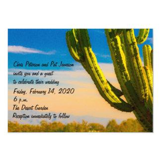 Convite colorido do casamento do deserto do cacto