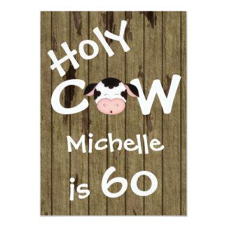 Convite cómico do aniversário da vaca 60th