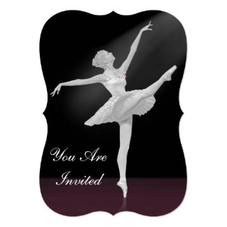 Convite, considerando da dança, bailarina