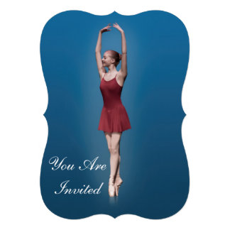 Convite considerando da dança bailarina