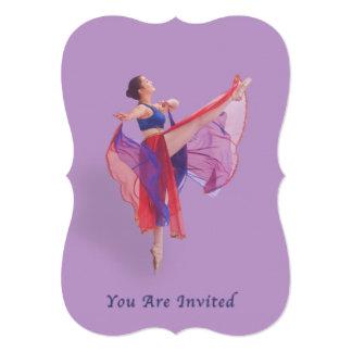 Convite, considerando da dança, bailarina convite 12.7 x 17.78cm