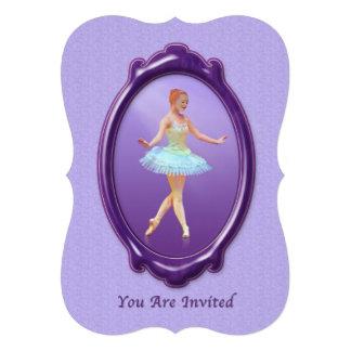 Convite, considerando da dança, bailarina, customi