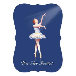 Convite, considerando da dança, bailarina em convite 12.7 x 17.78cm