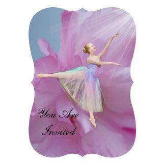 Convite considerandos da dança bailarina