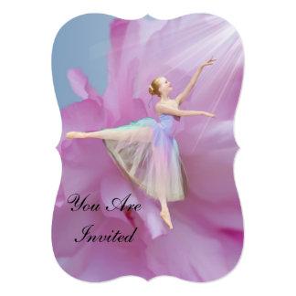 Convite, considerandos da dança, bailarina convite 12.7 x 17.78cm
