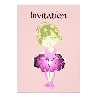 Convite cor-de-rosa da bailarina