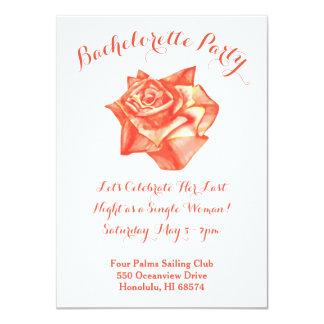Convite cor-de-rosa da festa de solteira do coral