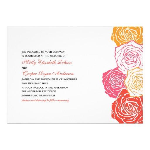 Convite cor-de-rosa do casamento da flor