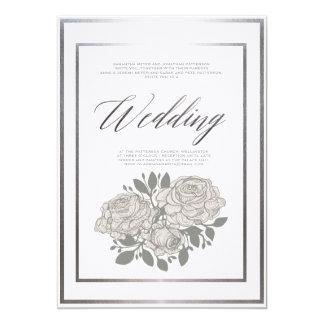 Convite cor-de-rosa do casamento do clássico