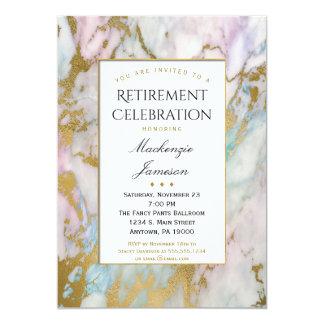 Convite cor-de-rosa elegante da aposentadoria do
