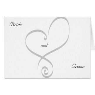 Convite-Coração da festa de noivado Cartão