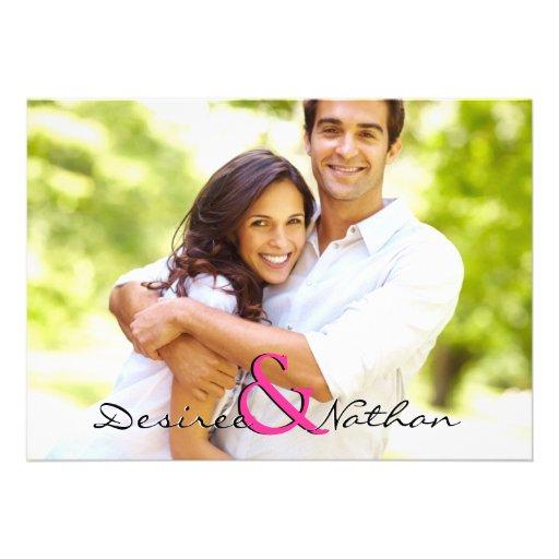 Convite customizável do casamento da foto