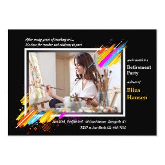 Convite da aposentadoria da foto do quadro da arte