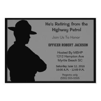 Convite da aposentadoria da polícia da estrada