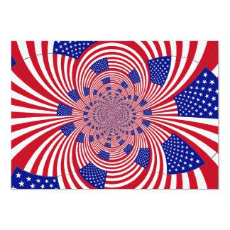 Convite da arte da bandeira americana