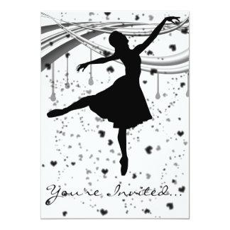Convite da bailarina do Grunge
