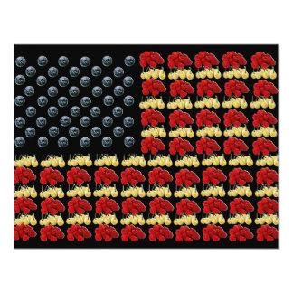Convite da bandeira americana da fruta