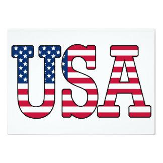 Convite da bandeira americana dos EUA