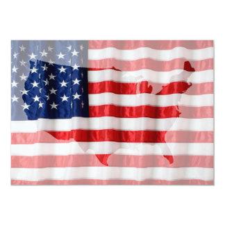 Convite da bandeira de USA/American