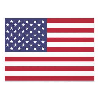 Convite da bandeira dos EUA