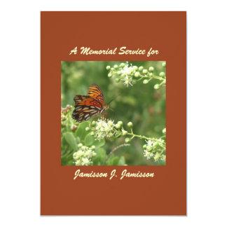 Convite da cerimonia comemorativa, borboleta