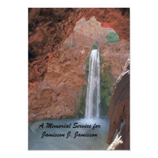Convite da cerimonia comemorativa, cachoeira