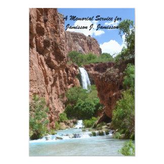 Convite da cerimonia comemorativa, cachoeira,