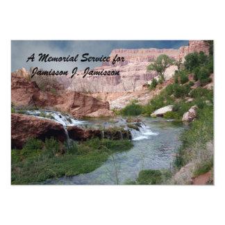Convite da cerimonia comemorativa, cachoeiras