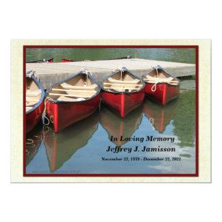 Convite da cerimonia comemorativa, canoas