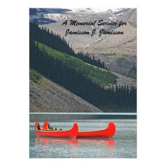 Convite da cerimonia comemorativa, canoas da monta
