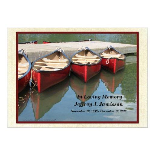 Convite da cerimonia comemorativa, canoas vermelha