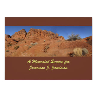 Convite da cerimonia comemorativa, colinas