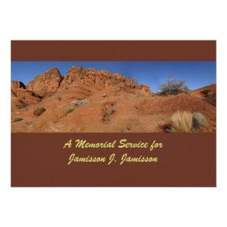 Convite da cerimonia comemorativa, colinas vermelh