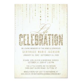 Convite da cerimonia comemorativa do olhar do convite 12.7 x 17.78cm