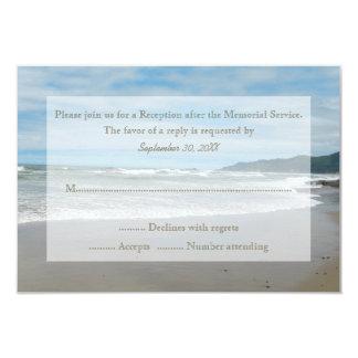 Convite da cerimonia comemorativa RSVP Convite 8.89 X 12.7cm