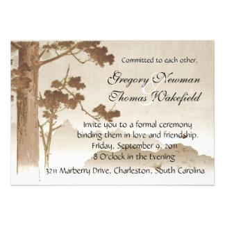 Convite da cerimónia do compromisso